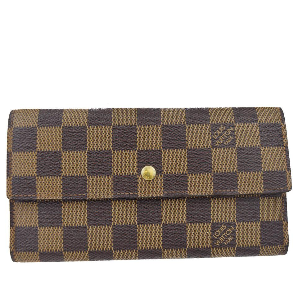 buy popular 43ece 7ce78 Louis Vuitton International Trifold Damier Leather Bn N61217 Coin Purse Men  Wallet 46% off retail