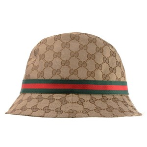 Gucci Gucci Original GG Web Fedora Bucket Hat 200036 9791 Large
