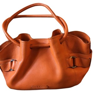 Cole Haan Silver Hardware Tote in Orange