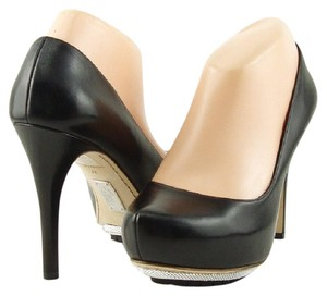 ALEJANDRO INGELMO Leather New Hidden Platform Black Pumps