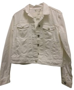 Gap Jean Petite White NWT Womens Jean Jacket