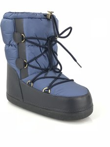 Moncler Leather Snow Winter Moon Blue Boots