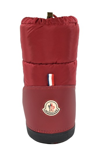 Moncler Leather Snow Winter Moon Red Boots