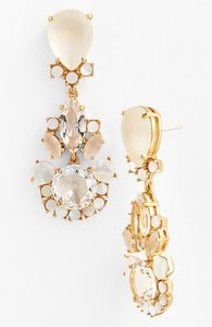 Kate Spade Clear Blush Grand Bouquet Drop Earrings