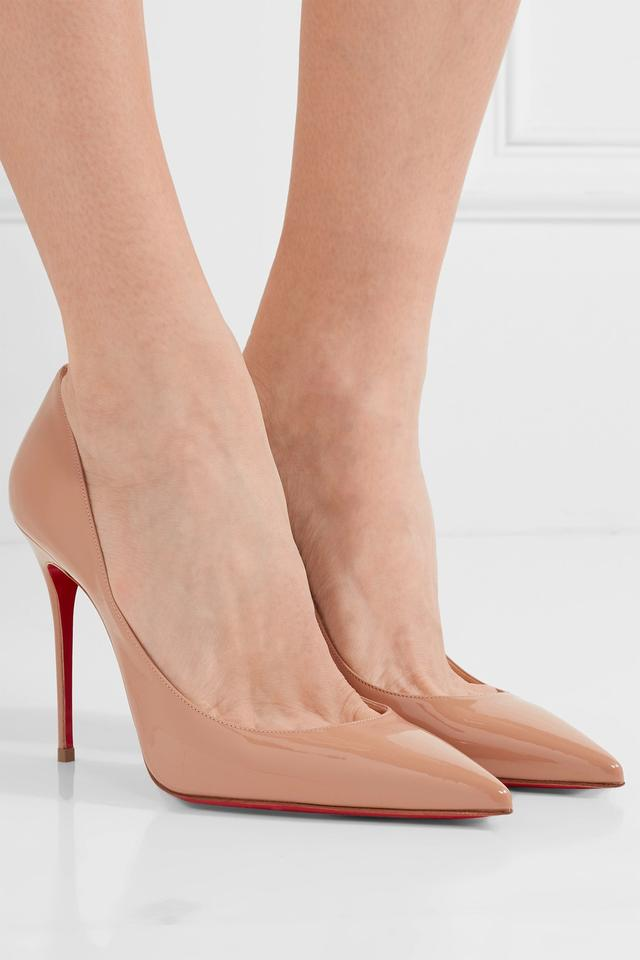 c4a95ab5e6ea Christian Louboutin Red Sole 100mm Decollete Patent Leather Beige Pumps  Image 11. 123456789101112