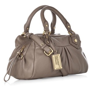 Marc by Marc Jacobs Leather Satchel in Taupe