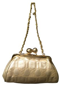 XOXO Vintage metallic gold Clutch