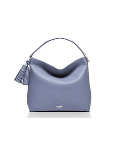 Kate Spade New With Tags Leather Mini Satchel in Oyster Blue