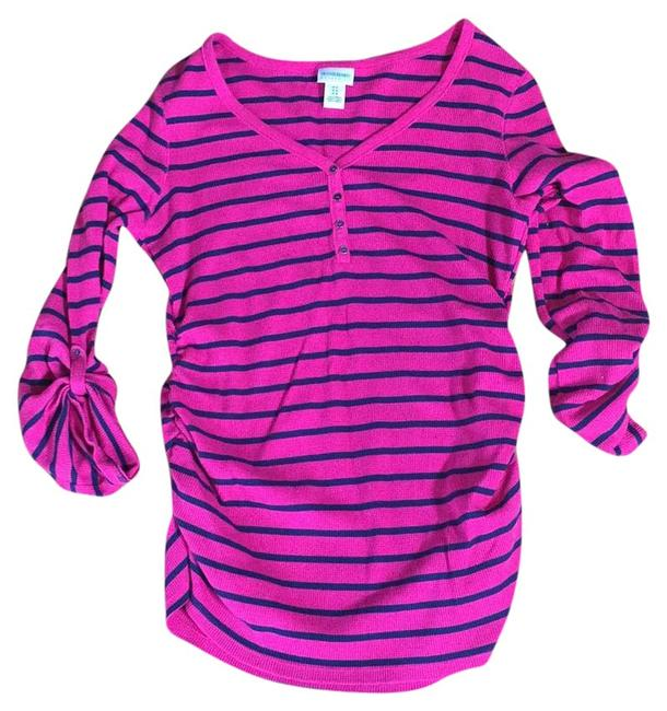 Item - Pink and Blue Maternity Top Size 12 (L)