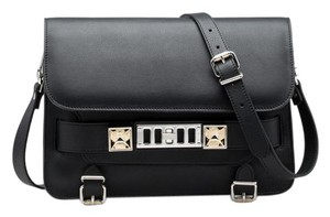 Proenza Schouler Leather Crystal Embellished Classic Cross Body Bag