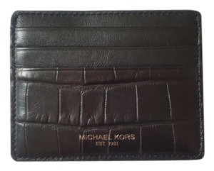 Michael Kors NEW MICHAEL KORS Men Croco-embossed leather card case holder wallet