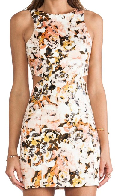 Item - Multicolor / Floral Party Monster Cut-out Short Night Out Dress Size 0 (XS)