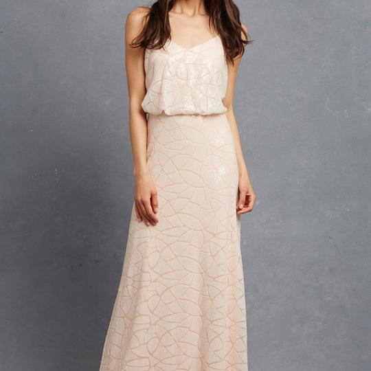Preload https://img-static.tradesy.com/item/21488887/donna-morgan-apricot-maze-paillette-sequin-olivia-traditional-bridesmaidmob-dress-size-14-l-0-0-540-540.jpg