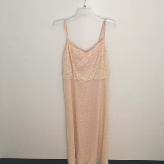 Donna Morgan Apricot Maze Paillette / Sequin Olivia Traditional Bridesmaid/Mob Dress Size 14 (L) Image 1