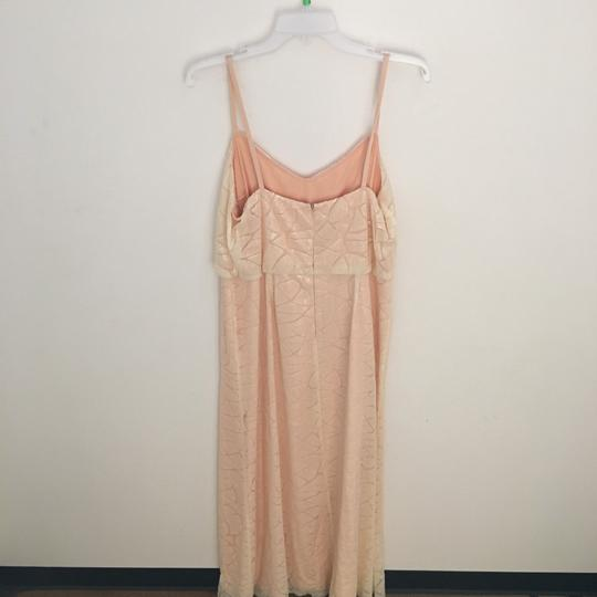 Donna Morgan Apricot Maze Paillette / Sequin Olivia Traditional Bridesmaid/Mob Dress Size 14 (L) Image 2