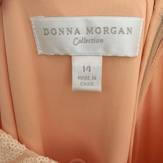 Donna Morgan Apricot Maze Paillette / Sequin Olivia Traditional Bridesmaid/Mob Dress Size 14 (L) Image 3