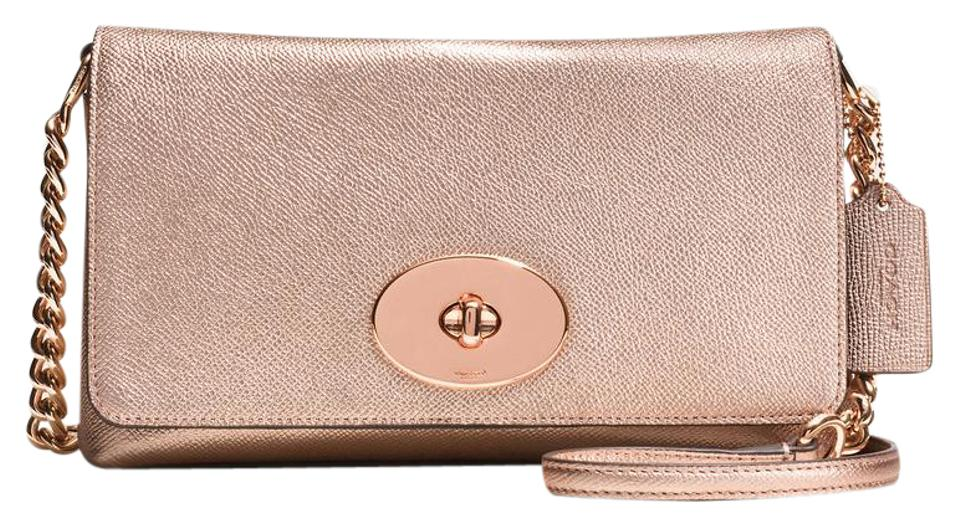 a1191fc204d7b Coach Crosstown In Pebble Gold Leather Cross Body Bag - Tradesy
