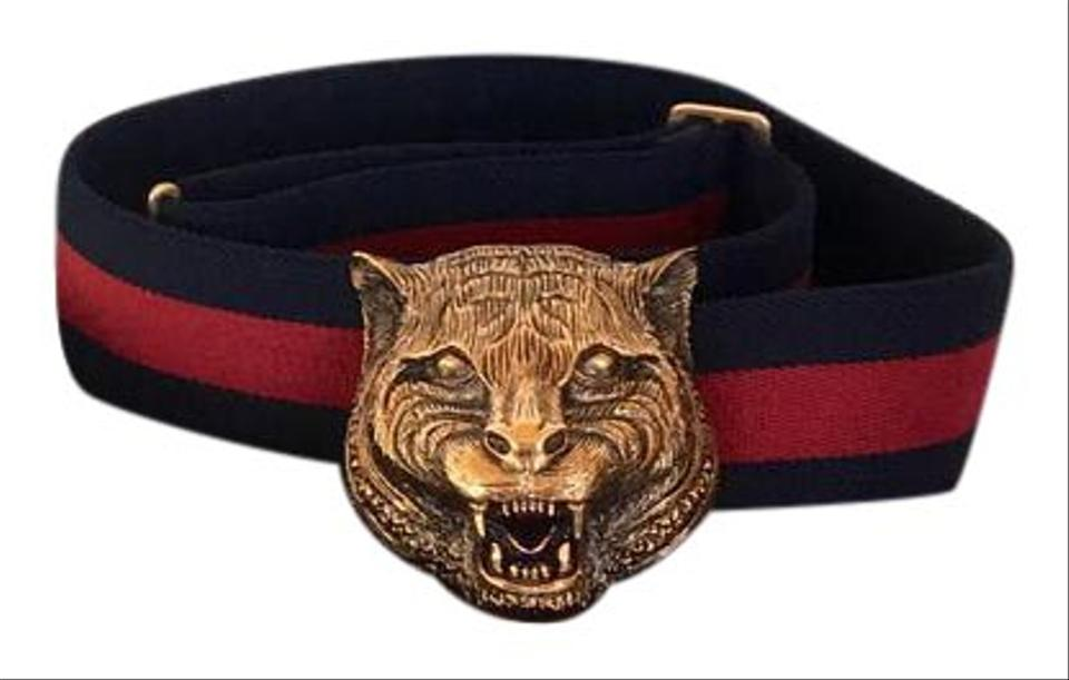 d4b62a7ab969 Gucci Gucci Web Elastic Belt Feline Buckle Rare and Sold Out Image 0 ...