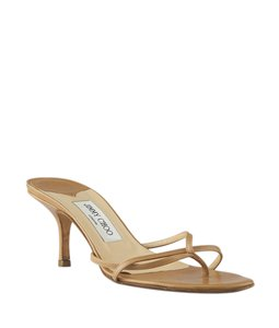 Jimmy Choo Leather Tan Sandals