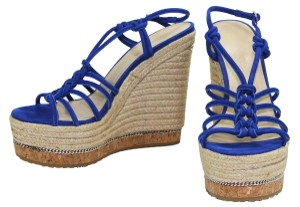 JIMMY CHOO COBALT BLUE Wedges