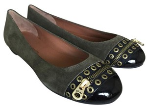 Marc Jacobs kaky naplack nero Flats
