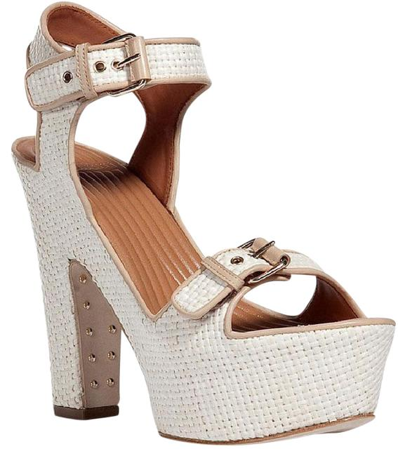 Givenchy Beige Raffia Sand Nappa Sandals Platforms Size US 9 Regular (M, B) Givenchy Beige Raffia Sand Nappa Sandals Platforms Size US 9 Regular (M, B) Image 1