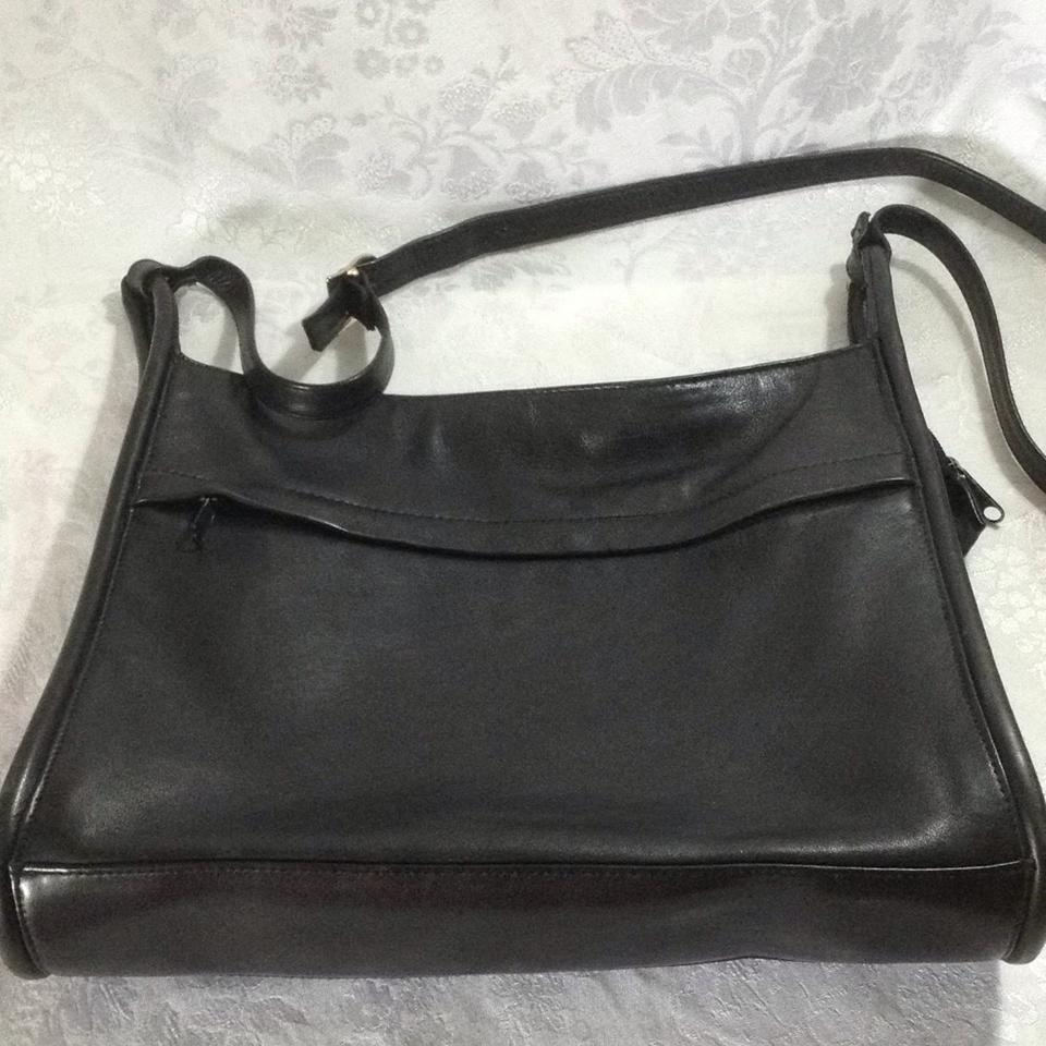 Lord Taylor Rn 13711 Black Leather Cross Body Bag