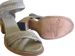 FreeBird Steven Axel Strappy Leather Distressed Ice Sandals