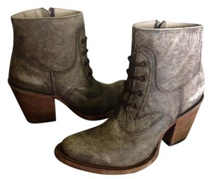 Corral Boots Ankle Leather Lace Brown Distressed Boots