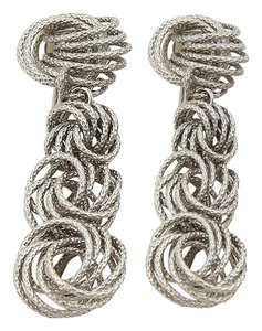 BUCCELLATI Gianmaria Multi Knot Clip On 18k Gold Earrings