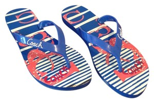 Coach Blue/Red Sandals