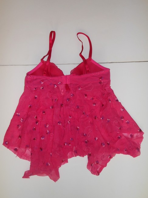 Victoria's Secret Floral Intimates Lingerie Size Small Top Pink
