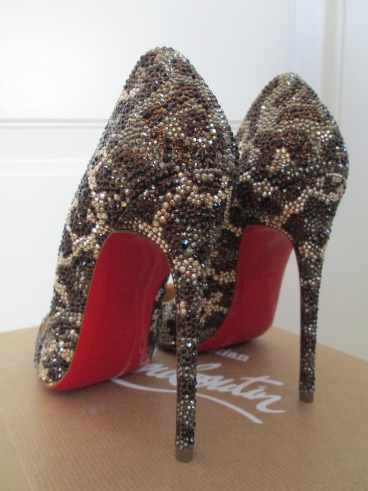 7572e46304a7 Christian Louboutin Leopard Crystal Pointed Toe Brown Pumps Image 11.  123456789101112