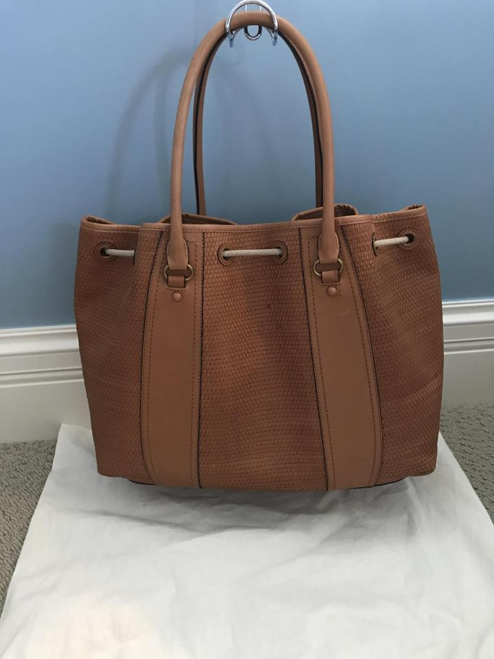 c5da239b750 Tory Burch Amalfi Woven Leather Sold Out Most Places Tote in Tan Image 10.  1234567891011