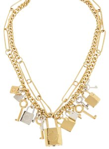 Marc by Marc Jacobs NEW! Marc by Marc Jacobs Lock Key Necklace Gold/Silver-Tone Padlock