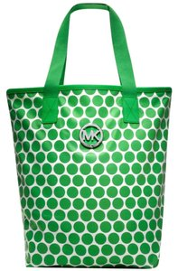 Michael Kors Nylon Mk Logo Dots Tote in Green