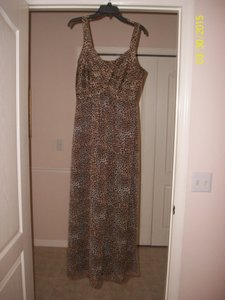 Animal Print (Black and Brown) Maxi Dress by Robbie Bee