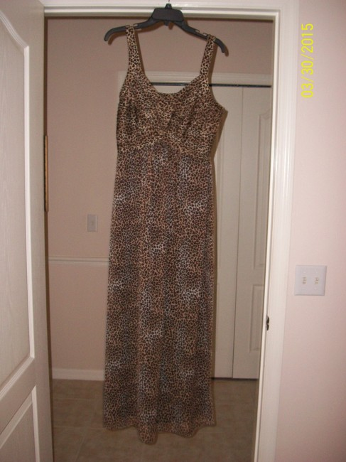Item - Animal Print (Black and Brown) Long Casual Maxi Dress Size 12 (L)