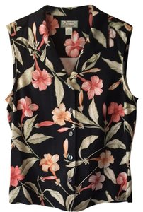 Tommy Bahama Top Black With Coral