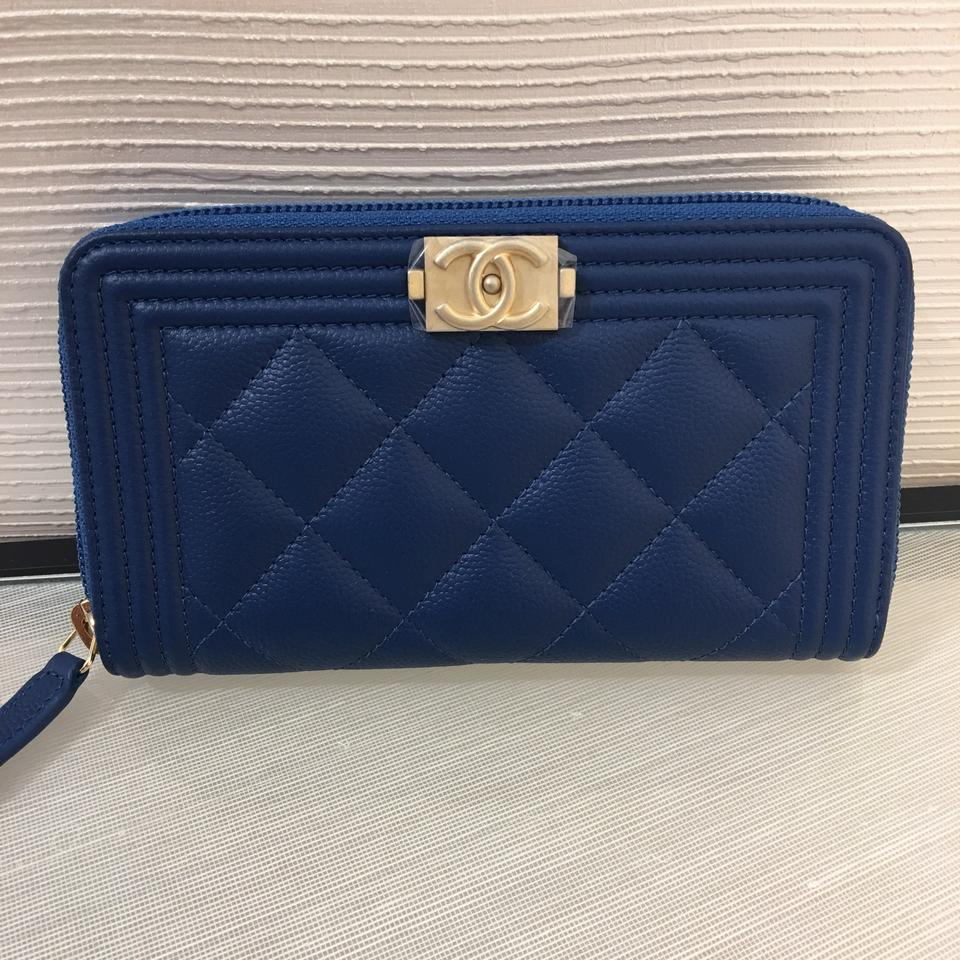 5c42d937efb1 Chanel Blue/Gold Boy Bn 2018 Zip Around Wallet - Tradesy
