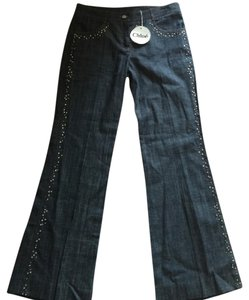 Chlo Chloe' Nwt Made In Bling Flare Leg Jeans-Light Wash