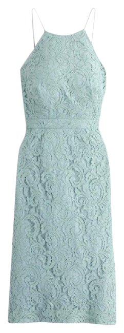 Item - Mint Dusty Shale Lace Lydia Feminine Bridesmaid/Mob Dress Size 4 (S)