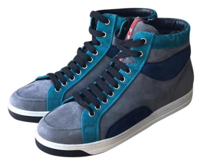 Item - Grey Blue Green Red New Sneakers Size EU 39.5 (Approx. US 9.5) Regular (M, B)