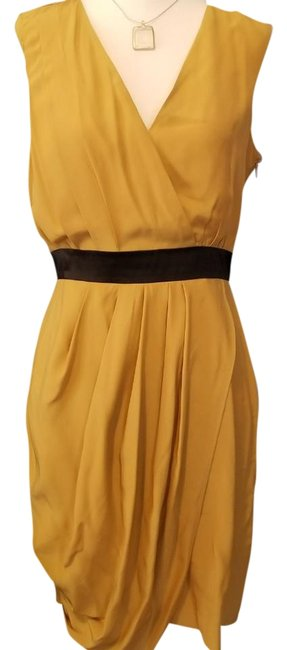 Preload https://img-static.tradesy.com/item/21491970/cynthia-steffe-mustard-yellow-mid-length-cocktail-dress-size-4-s-0-4-650-650.jpg