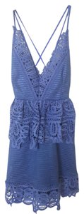 Goodnight Macaroon short dress Lavender Blue Daytime Lace Strappy on Tradesy