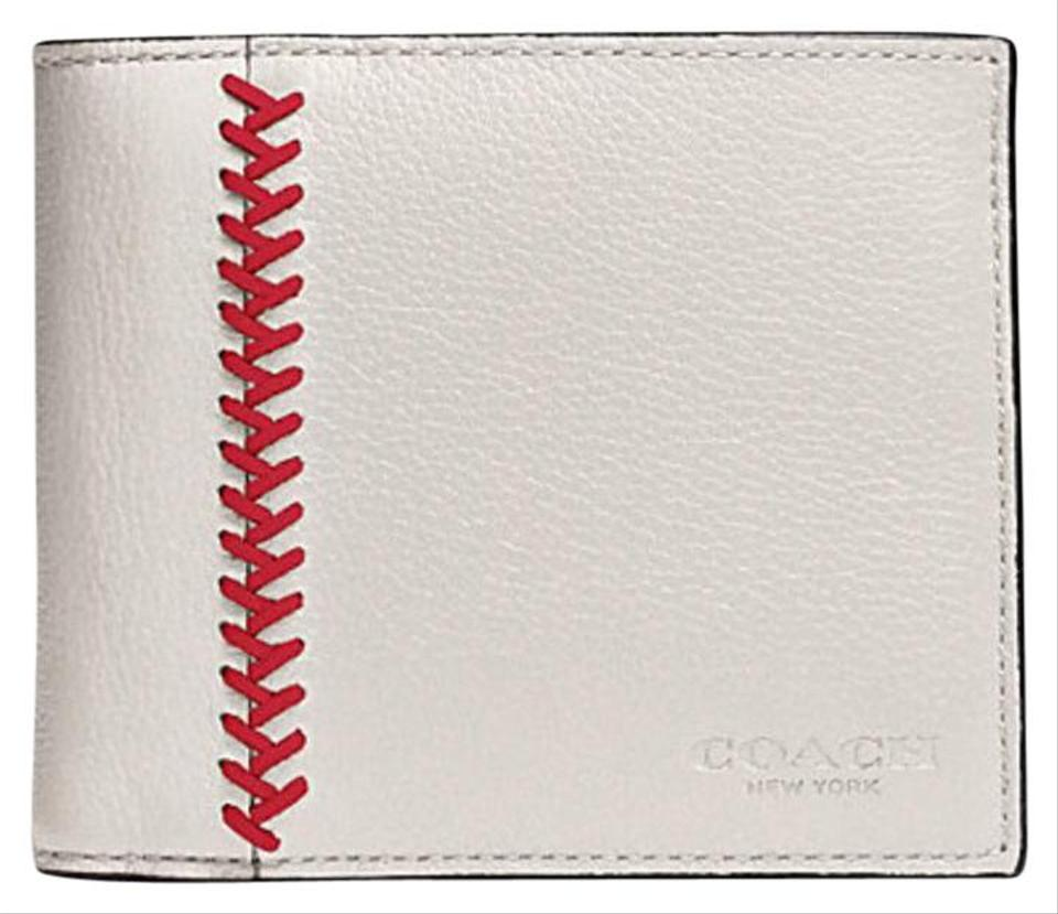 088a5eeb Coach Chalk Still Time To Get B-4 Father's Day Baseball Stitch Leather  Wallet 53% off retail