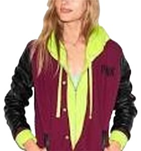 PINK Victoria's Varsity By Victoria's Coat Motorcycle Jacket