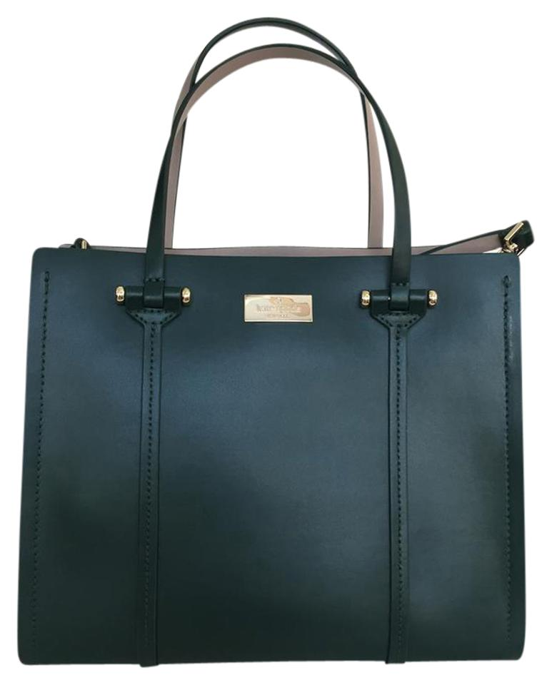 ac4acf8d185f6 Kate Spade New York Small Elodie Tote Forest Green Leather Satchel ...