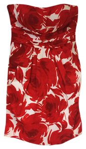Snap short dress red and white on Tradesy