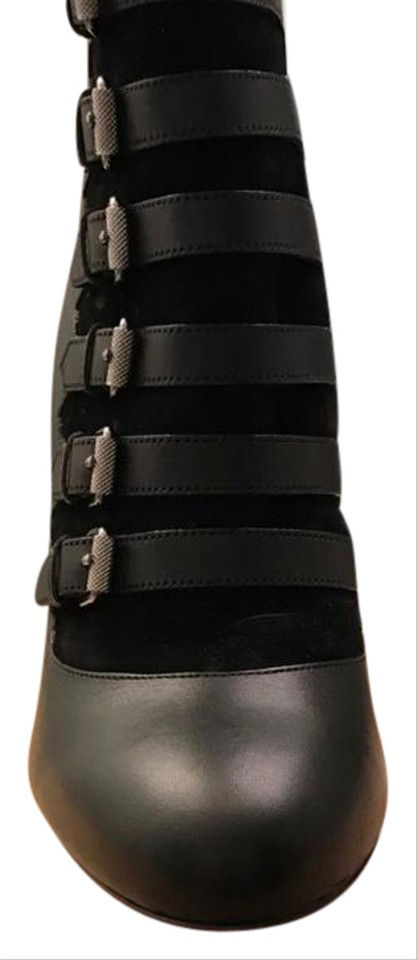 f24510512761 Christian Louboutin Black Attrroupee Buckled Red Sole Boots Booties ...